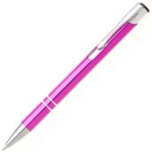 Metal golyóstoll - fényes pink