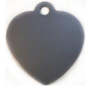 Kutyabiléta - szív alakú, nagy ezüst