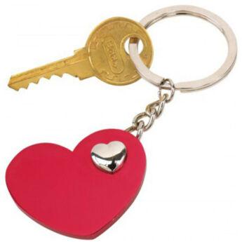 Heart-in-heart kulcstartó