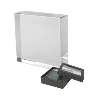 Üvegtömb 6 x 6 x 2 cm