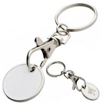 """""""'Shoping"""" kulcstartó - bevásárlókocsi érmével"""