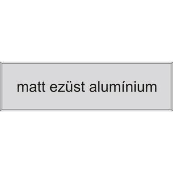 Gravírozott névtábla - matt ezüst alumínium