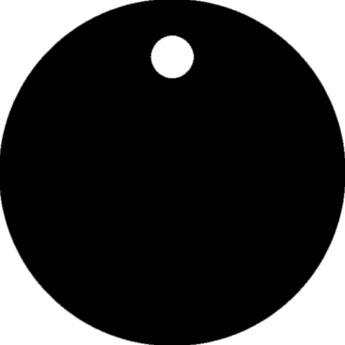 """""""Toby"""" biléta - kör, nagy - fekete"""