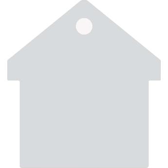 """""""Casa"""" biléta - ház - ezüstszínű"""