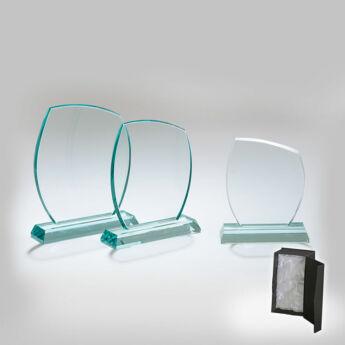 Üveg díj - 18 cm-es