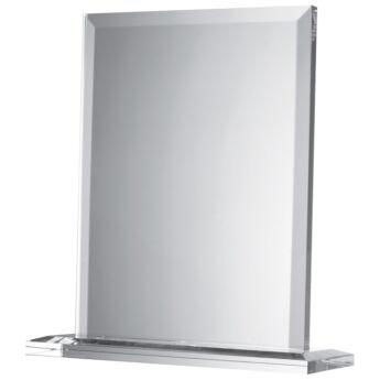Üveg plakett - téglatest