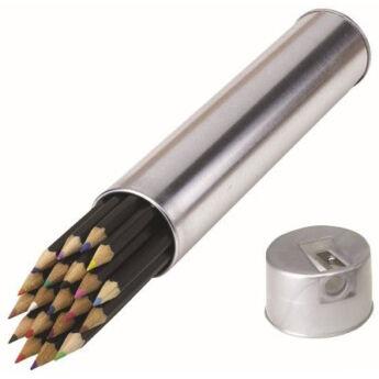 20 db színes ceruza fémdobozban