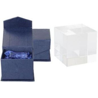 Plakett-üvegkocka