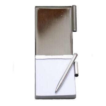 Jegyzettartó notesz, tollal