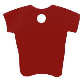 póló alakú gravírozható kutyabiléta
